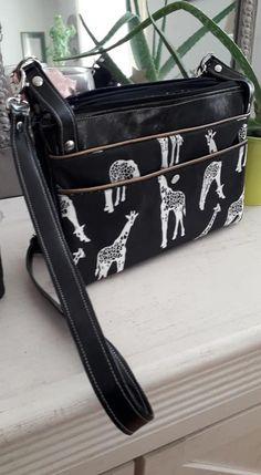 Sac ChaCha girafes cousu par Elena - Patron Sacôtin