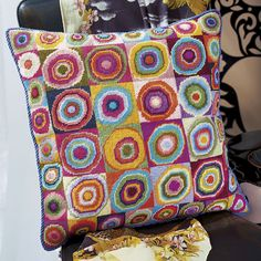Make your own needlepoint pillow by Kaffe Fasset