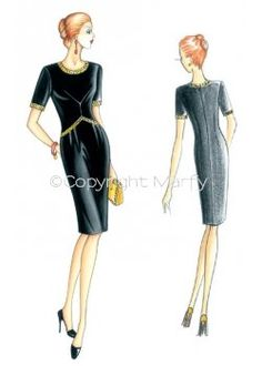 The Marfy hand made pre-cut sewing pattern :: Marfy Collection 2014/2015 :: Autumn/Winter :: Sewing Pattern 3521 -
