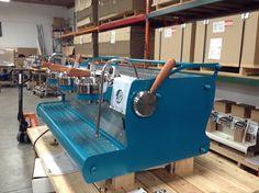 Teal & Bubinga Coffee Machine, Espresso Machine, Coffee Maker, Coffee Shops, Handmade Home, Design Language, Great Coffee, Shop Interiors, Industrial Design