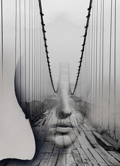 """subtly brilliant superimposition art by Antonio Mora (Spain) """"Cyclops 4"""" • creates surreal dream-like hybrid portraits to inspire, from images found on the Web / blogs / mags • masters in Graphic Design, art director 15 years but replaced interest for own art of painting in his industrial building studio by the beach • off'l: www.mylovt.com • off'l pinterest: www.pinterest.com/amoradiez • off'l fb: http://goo.gl/ceQhYg"""