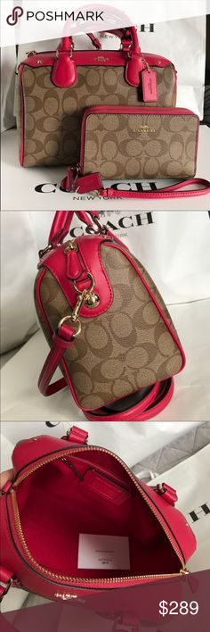 Coach Set 100% Authentic Coach Purse Crossbody and Wallet, both brand new!. Coach Bags Crossbody Bags