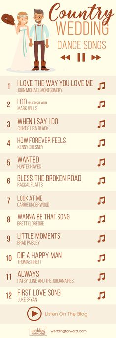 33 Country Wedding Songs To Walk Down The Aisle ❤️ There are also plenty of country wedding songs to walk down the aisle to your beloved. See more: http://www.weddingforward.com/country-wedding-songs/ #country #wedding #songs