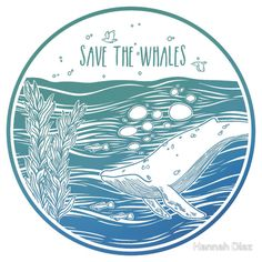 Save the Whales! Art Print by Hannah Diaz - X-Small Save Planet Earth, Save Our Earth, Save The Planet, Orcas, Rettet Die Wale, Save The Tiger, Save The Whales, Save Our Oceans, Marine Biology