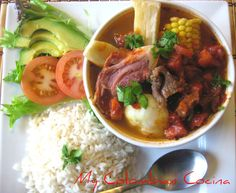 This is a comforting pot stew. One of the great things about stew is that the low and slow cooking makes even the toughest cut of meat fork tender. Colombian Cuisine, Colombian Recipes, Colombian Culture, Lunches And Dinners, Meals, My Favorite Food, Favorite Recipes, Good Food, Yummy Food