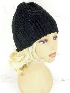 Black Crochet Hat Womens Hat Trendy Womens Crochet Hat Crochet Ribbed Beanie Hat with Seed Stitch Black Hat Crochet Beanie Hat by strawberrycouture by #strawberrycouture on #Etsy