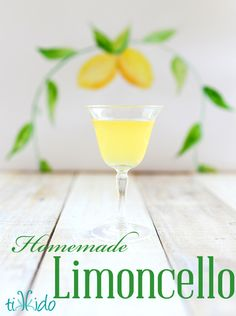 Homemade Limoncello recipe and tutorial.  I love giving a bottle of this as a gift!