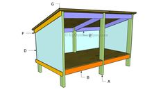 This step by step diy woodworking project is about double dog house plans. Building a large dog house for your pets is a complex project that requires a proper planning. Double Dog House, Large Dog House, Build A Dog House, Dog House Plans, Puppy House, Chicken Coop Plans, Building A Chicken Coop, Chicken Coops, Dog Pen Outdoor