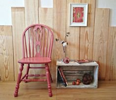 silla vintage rosa escandinavo | Bohemian and Chic