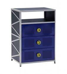 The Dune Buggy Chest is perfect for adding fun storage to a child's bedroom. The chest features a bright colored exterior that is bold and visually appealing.