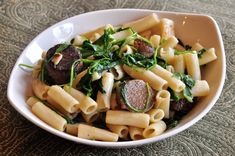 Day 17: Penne with Arugula and Sausages   #veganpopup #vegan #food #dinner