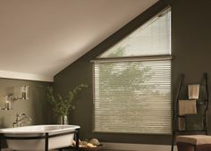 Aluminum Blinds for Angled Windows! Always a great solution!