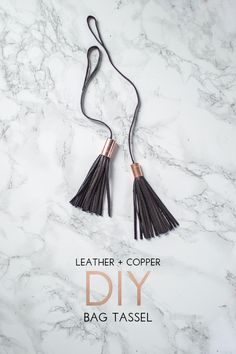 Create a stylish leather & copper tassel accessory for your bag or keychain. Via @classicingray