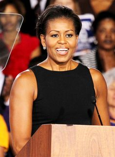FLOTUS Michelle Obama. She's not stressing about arms.
