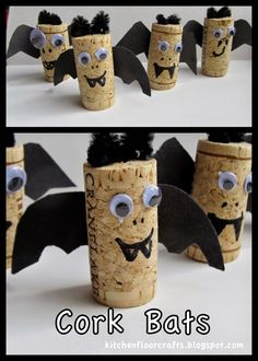 Kitchen Floor Crafts: Cork Bats