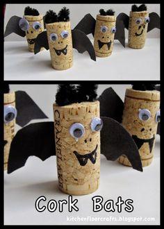 Kitchen Floor Crafts: Cork Bats