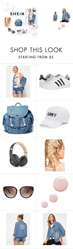 """Bez naslova #32"" by sanela-m ❤ liked on Polyvore featuring adidas, Dance & Marvel, SO, Beats by Dr. Dre, Oscar de la Renta and Topshop"
