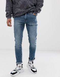 CHEAP MONDAY SONIC SLIM FIT JEANS IN BAIL BLUE - BLUE. #cheapmonday #cloth Cheap Monday, Jeans Fit, Slim, Mens Fashion, Fitness, Clothes, Moda Masculina, Outfits, Male Fashion