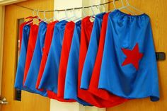 a superhero party - so cute! boys or girls. who doesn't want to be a superhero? Superhero Capes, Superhero Birthday Party, Boy Birthday Parties, Birthday Fun, Birthday Ideas, Country Birthday, Superman Birthday, Third Birthday, Princess Birthday