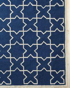 Moroccan Tile Hooked Indoor-Outdoor Rug