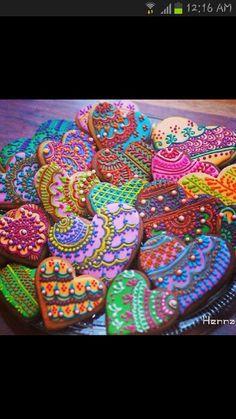 Henna design cookies