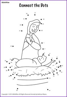 Connect the Dots (Mary and Jesus) - Kids Korner - BibleWise