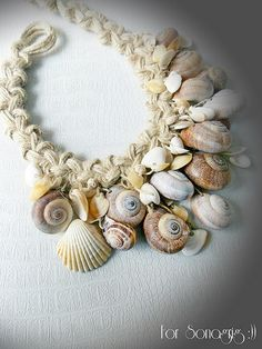 Macrame and shell necklace | Flickr - Photo Sharing!