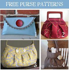 Purses, purses, purses!!! wish I could sew, these are some super cute purses!