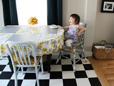 Chic Upcycled High Chair >> http://blog.diynetwork.com/maderemade/how-to/a-high-style-diy-high-chair/