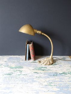 by justynamrugala on Etsy Etsy Vintage, Vintage Items, Solid Background, Task Lamps, Close Up Pictures, Vintage Home Decor, Lightning, Table Lamp, Desk