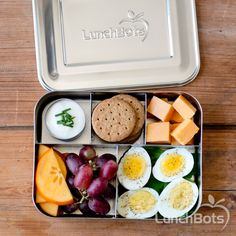 A DIY bistro box! Perfect for work or school. Packed in the LunchBots Bento Cinco with five sections to fill. #realfood