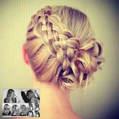 Beautiful side braid and side bun ❥❥❥