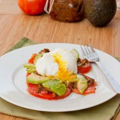 Poached Eggs with Pesto and Tomatoes | Tasty Kitchen: A Happy Recipe Community!