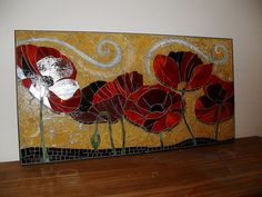 Tempered glass mosaic - some gorgeous pieces on this site