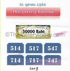 Thailand Lottery 6 Set Digits VIP Tips for 16 December 2017
