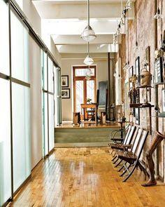 New York Loft   Big Windows, View, Concrete Floor, Pillars | GSM Set: NYC  Apartment Inspiration | Pinterest | Lofts, Concrete Floor And Concrete