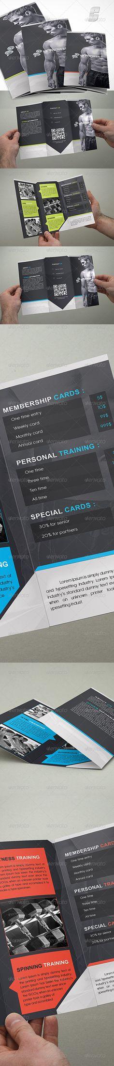 Elegant Tri-Fold Photography Brochure Photography brochure - gym brochure