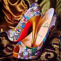 917957ba9bcd Christian Louboutin shoes with Persian miniature design