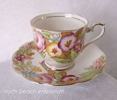 Vintage Royal Albert Bone China Tea Cup by northbeachemporium, $35.00 I love vintage things and have a few cups and saucers my self on my welsh dressers.