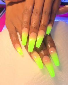 31 Adorable Toe Nail Designs For This Summer - Convenile Neon Acrylic Nails, Pink Nails, My Nails, Toe Nail Designs, Acrylic Nail Designs, Glow Nails, Nail Swag, Dope Nails, Nagel Gel