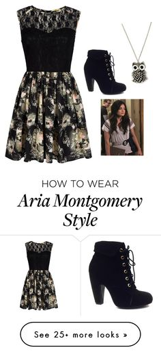 """Aria Montgomery (pretty little liars)"" by taryngallion on Polyvore featuring Mela Loves London and Bamboo"