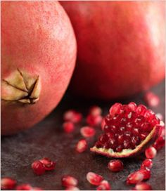 It is customary to eat three pomegranate seeds on Samhain (Halloween) in remembrance of Persephone's journey; eating more than that is believed to bring hardship into the coming year. Pomegranate juice symbolizes the menstrual or wise blood of the goddess; to drink it is to gain her wisdom. Carry a dried piece of the outer skin or add it to spells for conception.