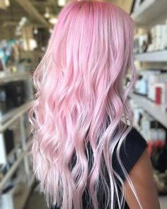Pink and violet highlights in white platinum blonde hair photo by. Pastel Pink Hair, Hair Color Pink, Blonde Color, Cool Hair Color, Blush Pink, Hair Colors, Baby Pink Hair, White Blonde, Long Pink Hair