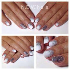 White nails Glitter nails Artistic Colour Gloss NEW Nails #nicolewestnewnails