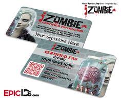 iZombie TV Series Inspired Certified Fan ID Card - Personalized