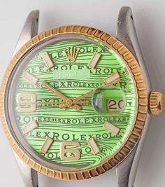 Amazing Rolex Green wave dial  by londonwatchstore #rolex #submariner