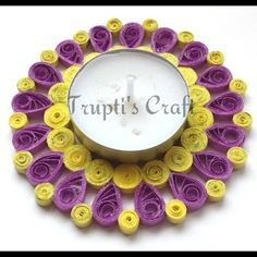 Trupti's Craft: Paper Quilling Candle Holder or Wall Hanging or Ca...