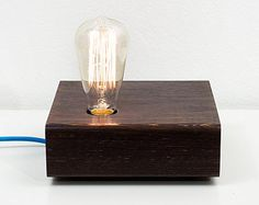 Wenge wood Lamp mod. Belmonte 003 table lamp von TelltaleDesign