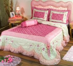 Wed First Night Romantic Bed Sheet Design Pink Bedroom Design, Bedroom Furniture Design, Bedroom Decor, Bedroom Ideas, Bedroom Designs, Bedroom Crafts, Bed Designs, Bed Cover Design, Feminine Bedroom
