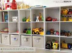 #OrganizedByCarolina: This clean and organized #PlayRoom made the whole family so happy! I chose this storage method and shelf system thinking of the ages of my client's kiddos. The toys are stored with labels and pictures so they can identify, find and reach them easily, and especially know where to put them back by themselves.  Purchased these at The Home Depot.  #LifestyleBasics #Lifestyle #Basics #LifestyleBlogger #Blogger #CleverTips #Tips #Organizer #Organizing #Tidying #Nifty #Hostess…